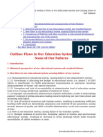 Essay Outline _ Flaws in Our Education System are Causing Some of Our Failures