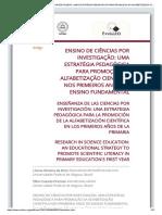 ENSINO DE CIÊNCIAS POR INVESTIGAÇÃO - UMA ESTRATÉGIA PEDAGÓGICA PARA PROMOÇÃO DA ALFABETIZAÇÃO CIENTÍFICA NOS PRIMEIROS ANOS DO ENSINO FUNDAMENTAL