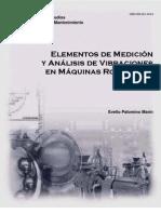 Elementos de medición y análisis de vibraciones mecánica en máquinas rotatorias