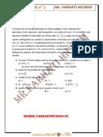 Série d'exercices - Math REVISION BAC fonctions logarithme et exponentiel - Bac Toutes Sections (2012-2013) Mr FARHATI HICHEM