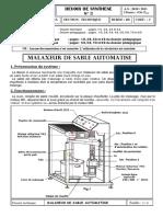Devoir de Synthèse N°2 - Technologie Dossier Technique MALAXEUR DE SABLE - Bac Technique (2010-2011) Mr ZAAFOURI mEHREZ