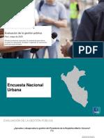 Evaluación de la Gestión Pública. Encuesta Nacional urbana Ipsos Mayo 2020