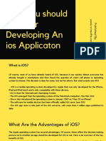 Why You Should Consider Developing an Ios Applicaton