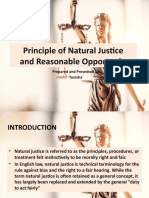 Principle of Natural Justice - Indian Law