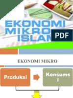EKONOMI MIKRO ISLAM; PRODUKSI dan KONSUMSI ISLAM - Copy