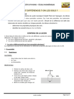 SVT 3è C3L1 les caractéristiques des sols