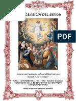 La Ascensión Del Señor. Guía de los Fieles para la santa misa cantada. Kyriel Lux Et Origo