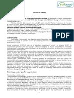 Caiet de sarcini  platforma e-learning ECOTOUR