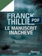 Franck Thilliez - Le manuscrit inachevé