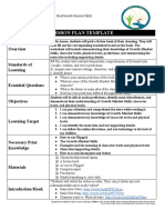 virtual lesson plan and reflection