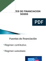 Fuentes de financiacion del SGSSS.