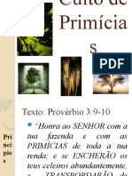 Culto de Primícias Provérbio 3:9-10