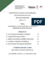 ACTIVIDAD VI. INFORME DE LAS RAZONES DE LA TEORÍA DE APRENDIZAJE SELECCIONADA JCVM