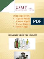 ENVASES DE VIDRIO Y HOJALATA