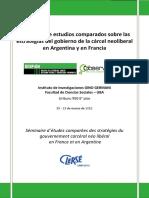 Seminario de Estudios Comparados Sobre Las Estrategias Del Gobierno de La Cárcel Neoliberal en Argentina y en Francia