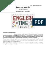 Actividad de Inglés 02 - 4° grado de Primaria