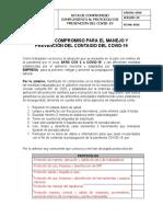 ACTA DE COMPROMISO TRABAJADORES - PREV COVID