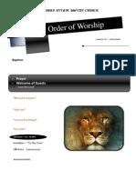 Order of Worship 01 09 2011 v1