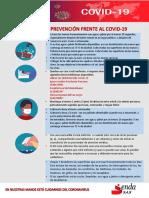 MEDIDAS DE PREVENCIÓN FRENTE AL COVID