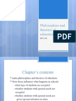 Philosophies and theories of education