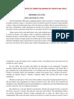 SERMÃO SOBRE AS SETE ÚLTIMAS PALAVRAS DE CRISTO NA CRUZ 2020