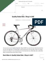 Quality Dubai Bike _ Shop in UAE - The Shard Bike
