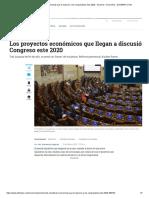 Las iniciativas económicas que le esperan a los congresistas este 2020 - Sectores - Economía - ELTIEMPO.COM