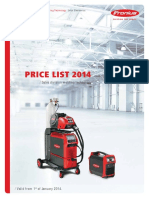 Fronius pricelist 2014