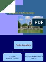 Tema 6 La Restauración Borbónica en España