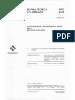 NTC 4145 - Accessibilidad al medio físico. Edificios, escaleras