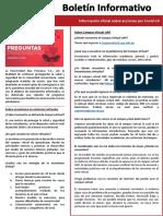 BOLETÍN INFORMATIVO - MAYO 2020