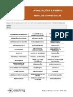 AVALIACOES E PERFIS - PERFIL DE COMPETENCIAS SBC