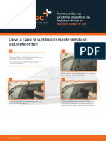Cómo Cambiar Las Escobillas Delanteras de Limpiaparabrisas en Hyundai Santa FÉ CM