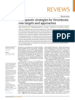 2020 Therapeutic strategies for thrombosis- new targets and approaches
