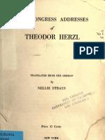 Herzl's Congress Addresses
