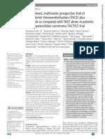 QUIMIOEMBO + SORAFENIB TACTIS trial 2019
