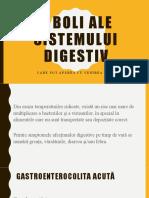 5 Boli ale sistemului digestiv