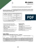 ESHE Motor datasheet