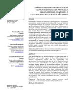 Análise comparativa da eficiência técnica de sistemas de produção agroflorestais, orgânicos e convencionais no estado de São Paulo