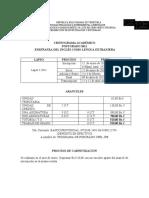 Cronograma Lapso I-2011 (Inglés)
