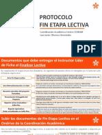 FIN ETAPA LECTIVA 2020