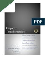 Etapa 5 - Transformacion