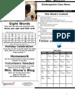 Newsletter Week 19