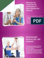 Proceso de atención en enfermería y procedimientos básicos