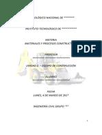 Unidad 2 Materiales y prosesos constructivos