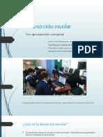 La deserción escolar