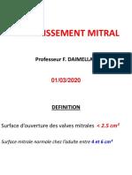 Pr. Daimellah - Rétrécissement Mitral