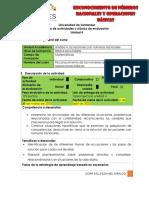Guía de Actividades y Rubrica de Evaluación -Unidad 4