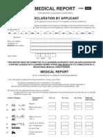 Medical Report D 501 Form