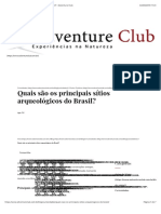 Quais são os principais sítios arqueológicos do Brasil? | Adventure Club